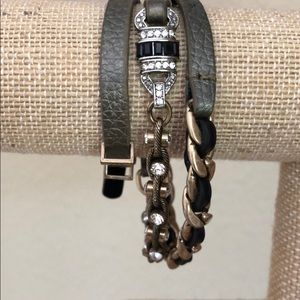 Deco Leather Wrap Bracelet